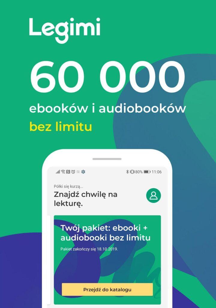 Grafika usługi Legimi dotycząca ebooków i audiobooków