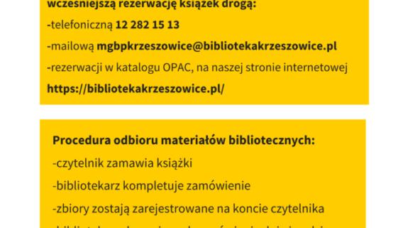 plakat_rezerwacja_odbior_materialow_bibliotecznych