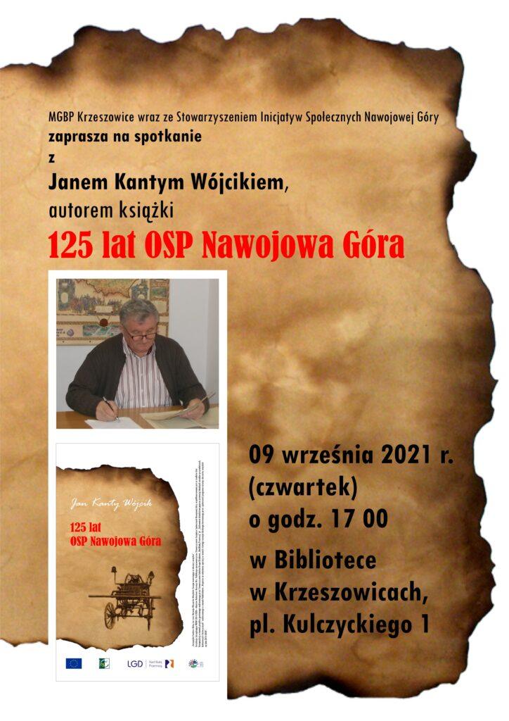 plakat spotkania autorskiego Jana Kantego Wójcika