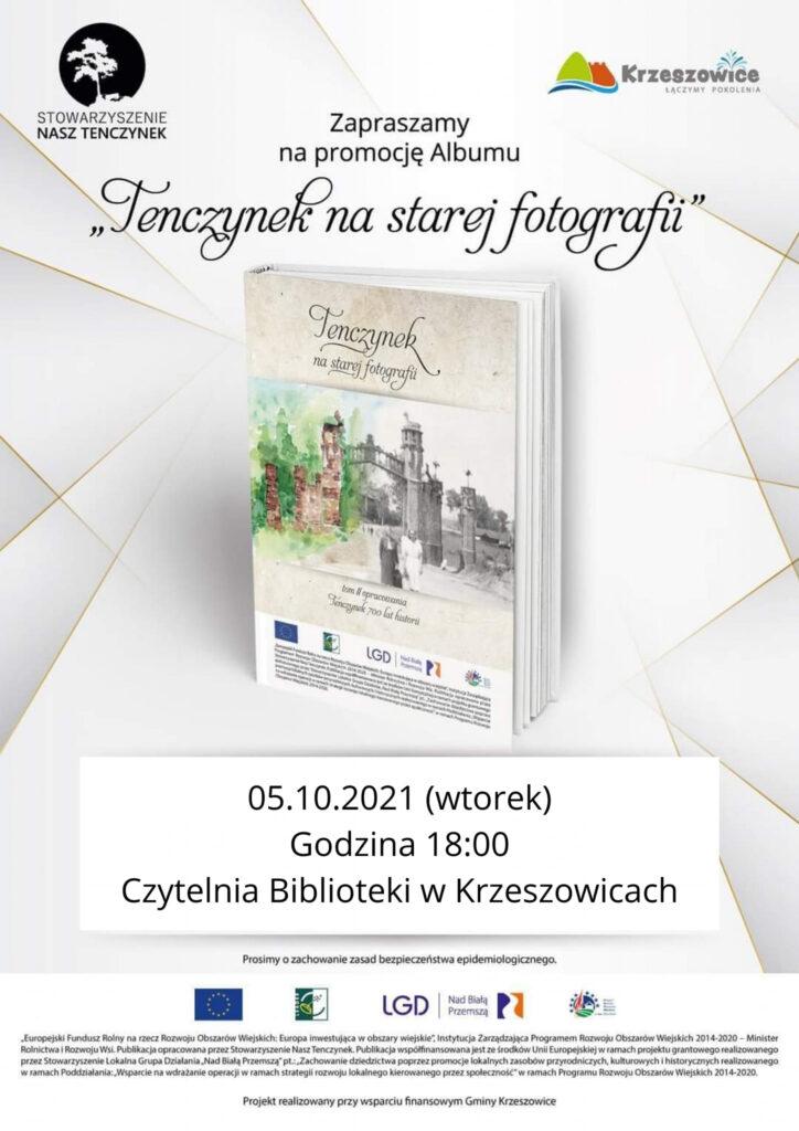 """Plakat informujący o promocji Albumu """"Tenczynek na starej fotografii"""""""